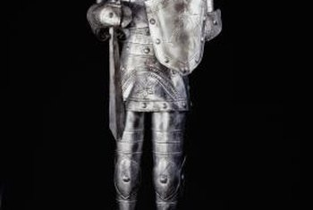 You don't need an actual suit of armor to make a room feel medieval.