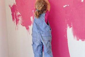 Give your child's bedroom some '80s flavor with a bold wall color like magenta.