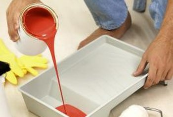 A little paint can save your water-damaged laminate floor.