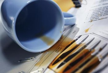 Avoid accidents by keeping beverages away from your printer.