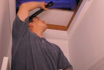 Sealing an attic cover may reduce your energy bill.