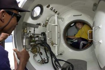 The hyperbaric technician works with changes in air pressure related to depth, height or oxygen therapy.