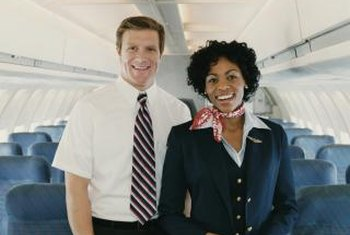 A friendly nature and an easygoing attitude while under stress are helpful characteristics for a flight attendant.