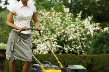 Use the attachment on your mower to collect grass clippings.