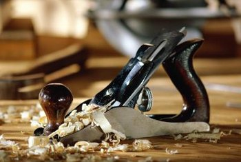 A plane should be adjusted so that the blade doesn't gouge the wood.