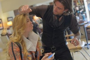 Regional makeup artists travel to store events to demonstrate products.