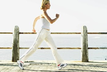 Fast walking burns fat.
