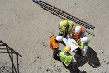 Construction managers oversee construction jobs.