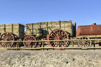 Borax is traditionally hauled out of Death Valley by mules.
