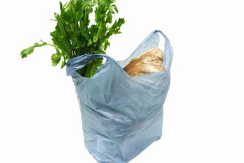 Plastic grocery bags contribute to the influx of plastic into landfills.