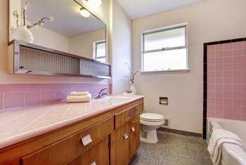 Pink tile doesn't have to date or dominate your bathroom.