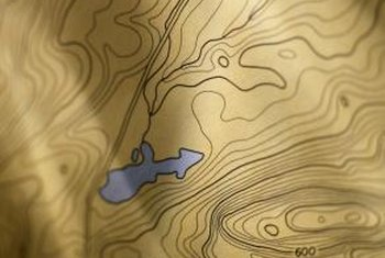 Topographical maps use lines to indicate the height and shape of the terrain.