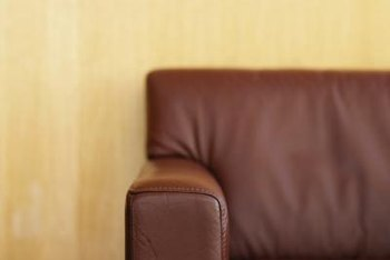 Use gentle cleaning products to avoid removing pigment from your leather furniture.
