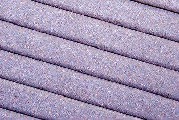 Close-up of a deck floor made with polywood planks