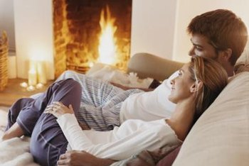 Over time, a warm cozy fire can leave dark soot marks on the ceiling.