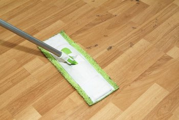 Flat mops are easy to use and clean hardwood effectively.