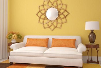 Yellow walls, from clear and sunny to deep and sultry, work with many coordinating colors.