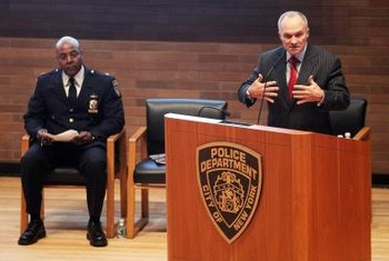 The NYPD police commissioner represents the department to the city's residents.