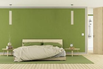 If you love lime green, use a muted tone in the bedroom or work it in with small accents.