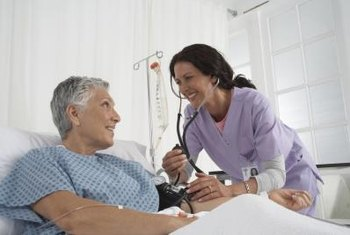 Nursing attendants help nurses to monitor patient health.