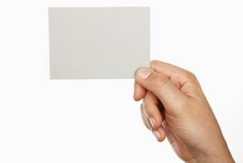 Business cards offer a simple, understated template for your vCard.