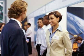 Follow basic etiquette when interacting with prospects and fellow exhibitors.