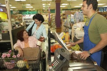 Cashiers often work in retail operations such as grocery stores.