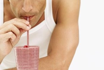 Add other ingredients to your protein shake to aid your quest for mass.