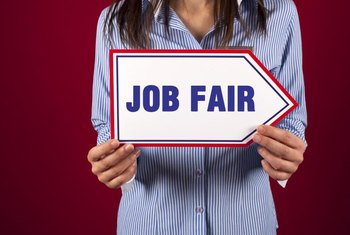 Reiterating interest in a specific position is valuable in a job fair follow-up.