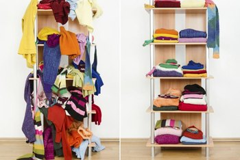 End the chaos of clutter by taking time daily to properly fold and store clothes.