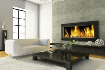 The style of your fireplace is a big clue about choosing the surrounding wall color.