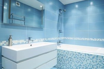 A monochromatic blue color scheme, when done correctly, can create a soothing spa-like retreat feel in your bathroom.