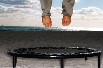 A mini trampoline is a fitness item that can be easily stored and moved.