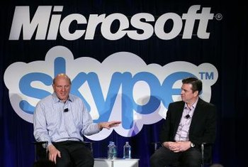 Microsoft purchased Skype in 2011; Skype is built into Windows 8.