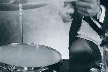 Add a top and convert a drum, such as a floor tom, into a table.