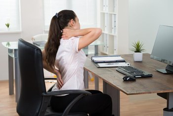 Poor posture leads to neck and back pain.