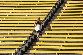 Running stairs can help to increase stride length.