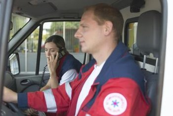 Most paramedics complete a special course in ambulance operation.