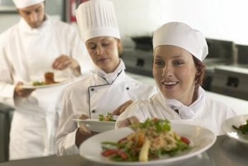 Staffing requirements vary between restaurants, but job titles are constant.