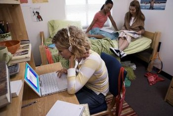 Dorm life gives you friends to study with, but also a lack of privacy.