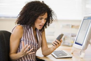 Annoying text messages often interrupt meetings and decrease productivity.