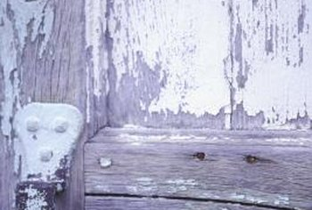 Eliminating old door paint could reveal timeless beauty beneath.