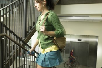 Burn a few more calories each day by skipping the elevator.