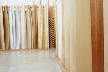 The plywood manufacturing process uses a variety of materials.