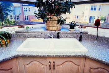 Laminate countertops work well in interior spaces.