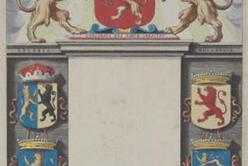 Early bookplates displayed a family coat of arms.