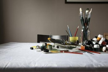 Obtain the right tools of the trade for a painter.