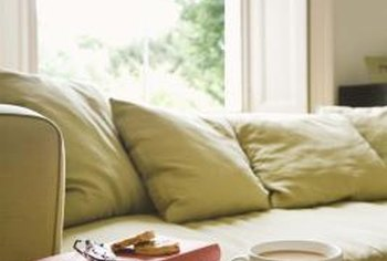 No matter what the style, an ivory sofa provides a neutral canvas for your living room.