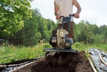 A garden tiller is a necessity when amending large areas of soil.