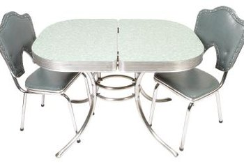 Cleaning retro dinette furniture brings back its sparkle.